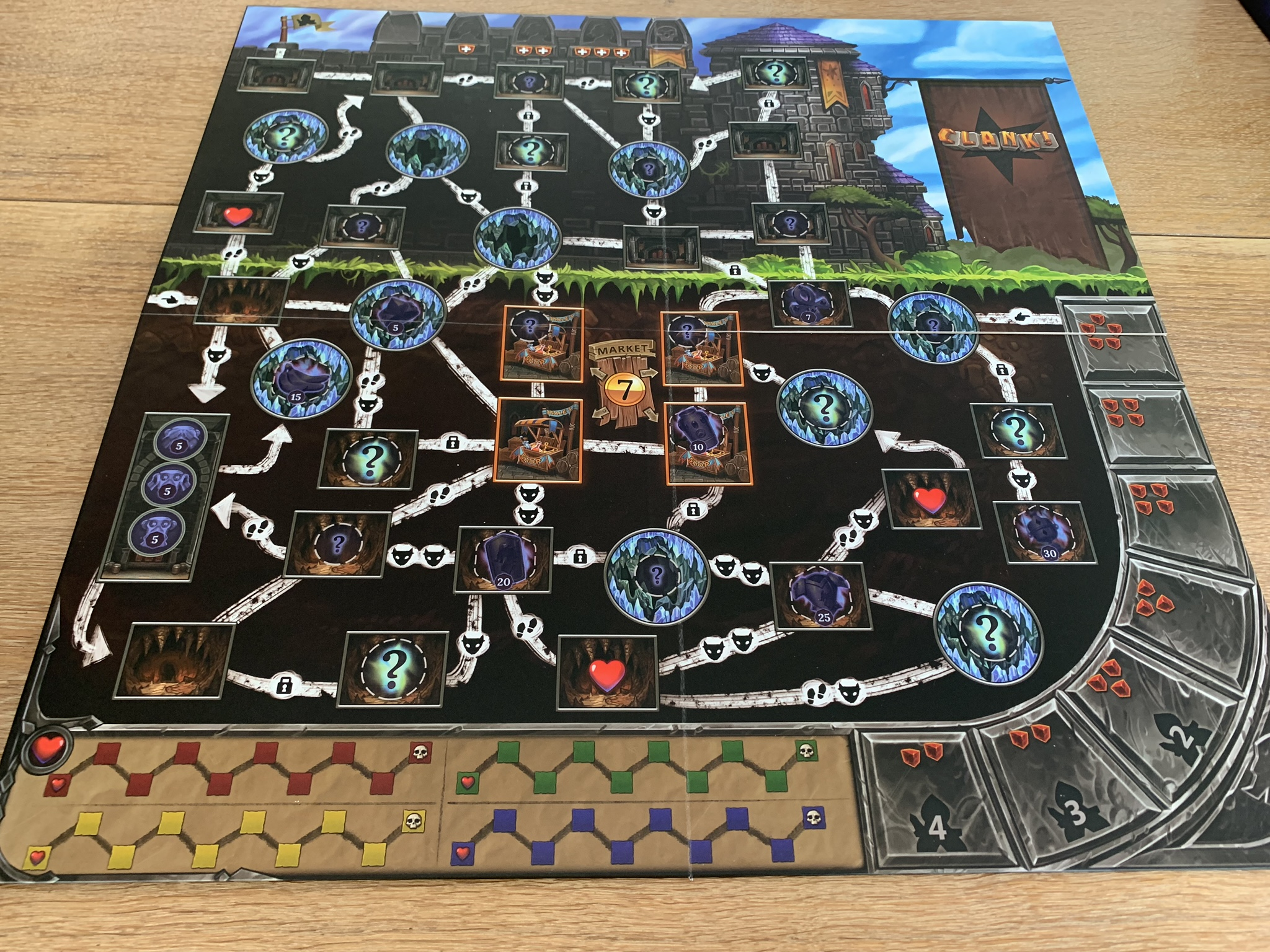 Clank! Game board - 1 side