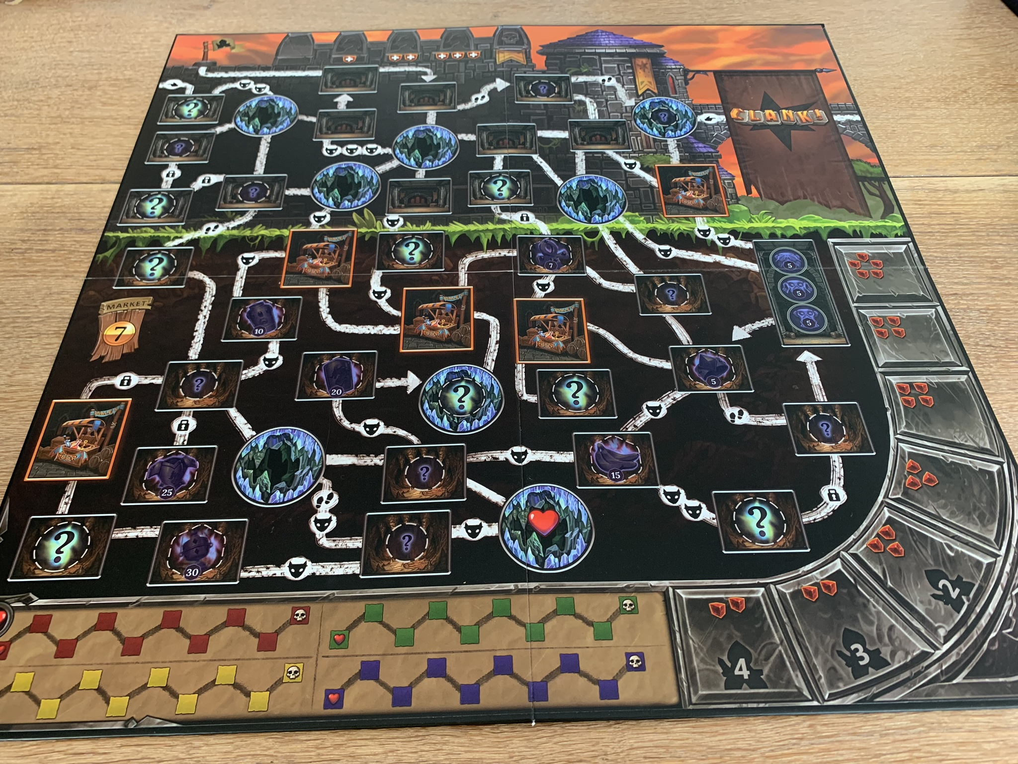 Clank! Game board - 2 side