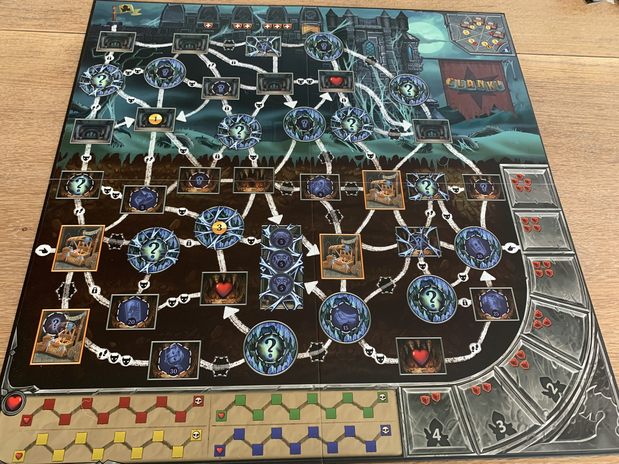 Clank! Expeditions: Gold and Silk - game board 1 side