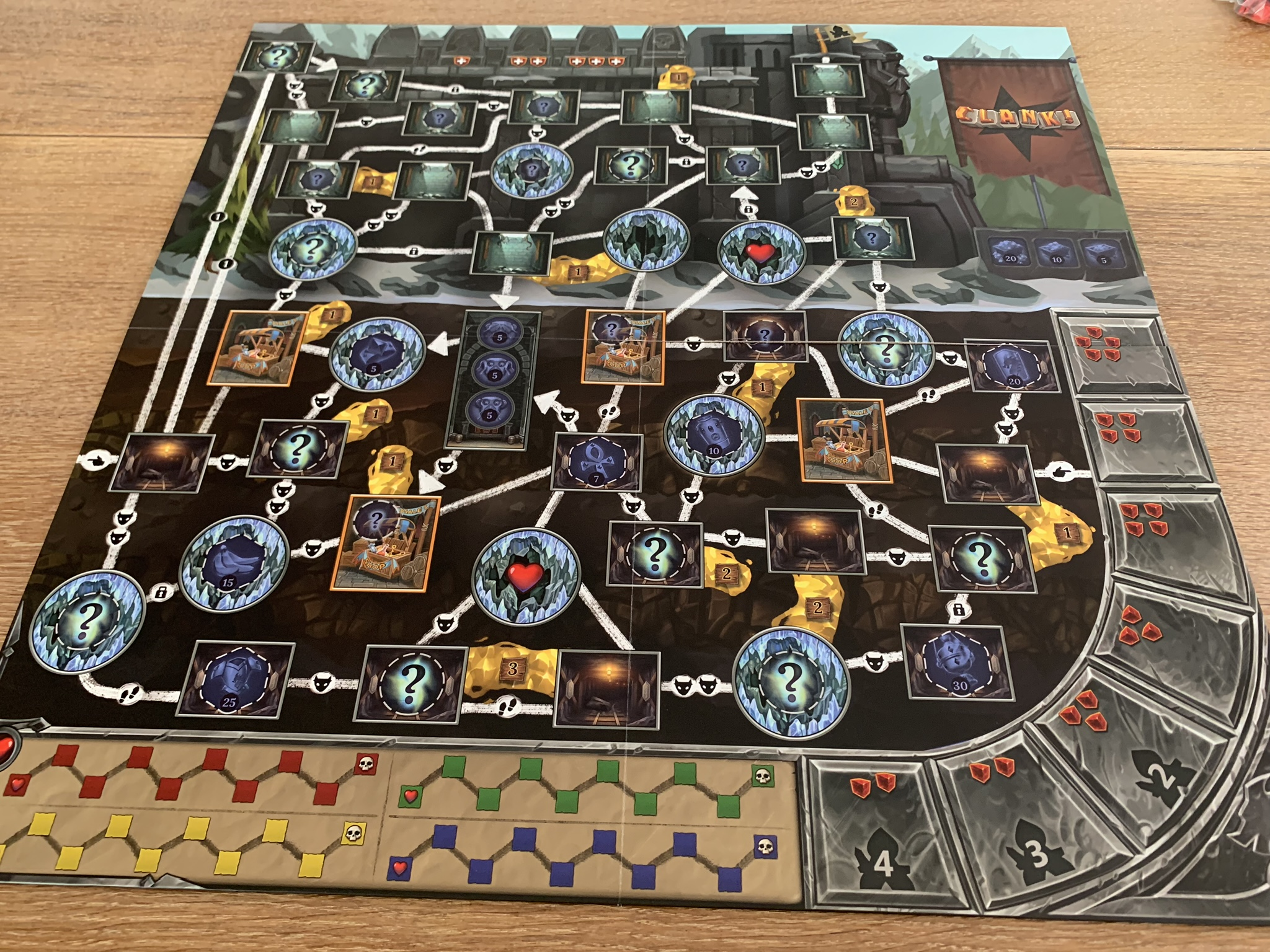 Clank! Expeditions: Gold and Silk - game board 2 side