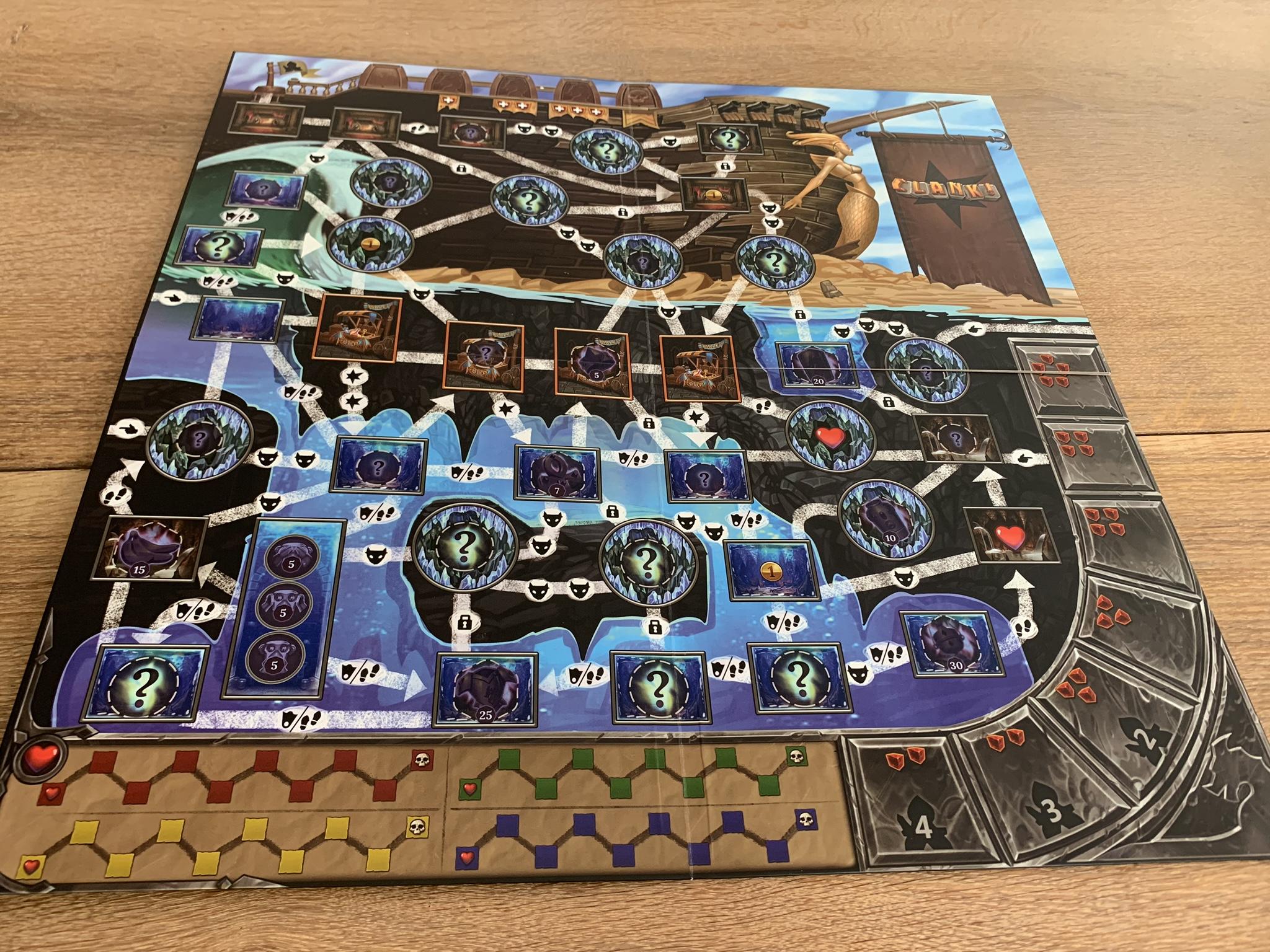 Clank!: Sunken Treasures - game board 1 side