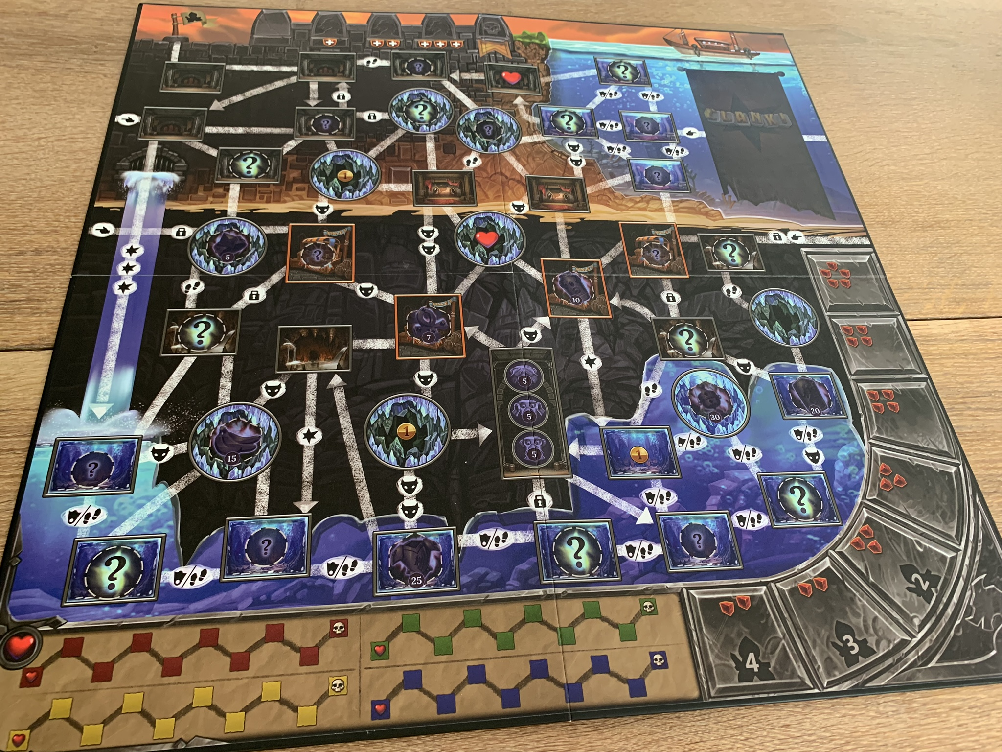 Clank!: Sunken Treasures - game board 2 side