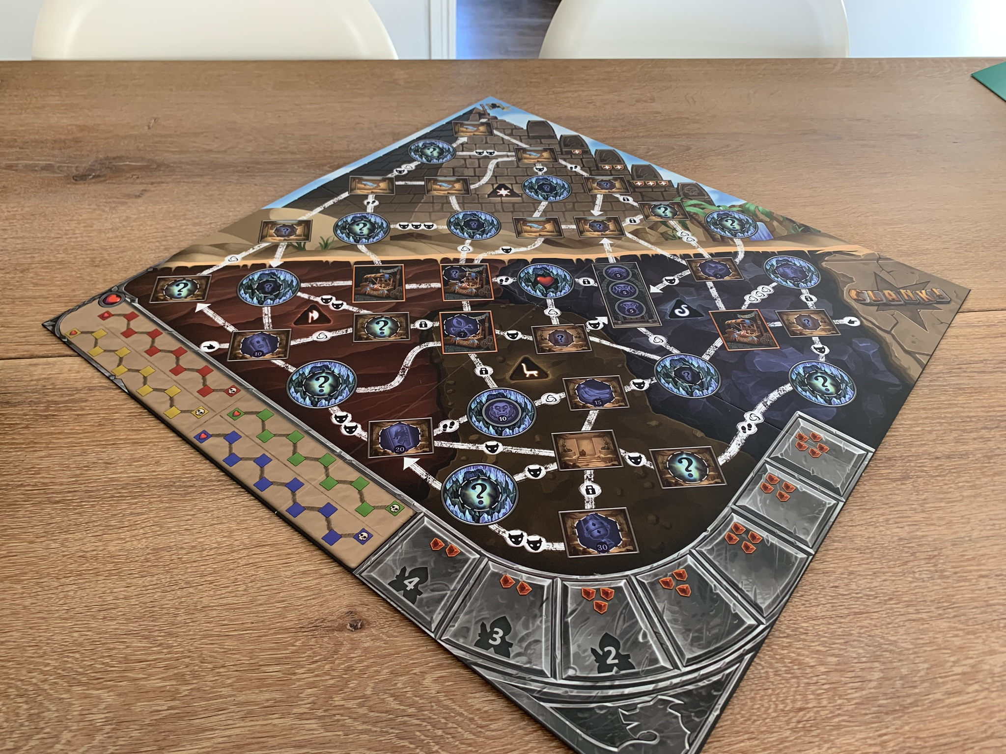 Clank!: The Mummy's Curse - game board 1 side
