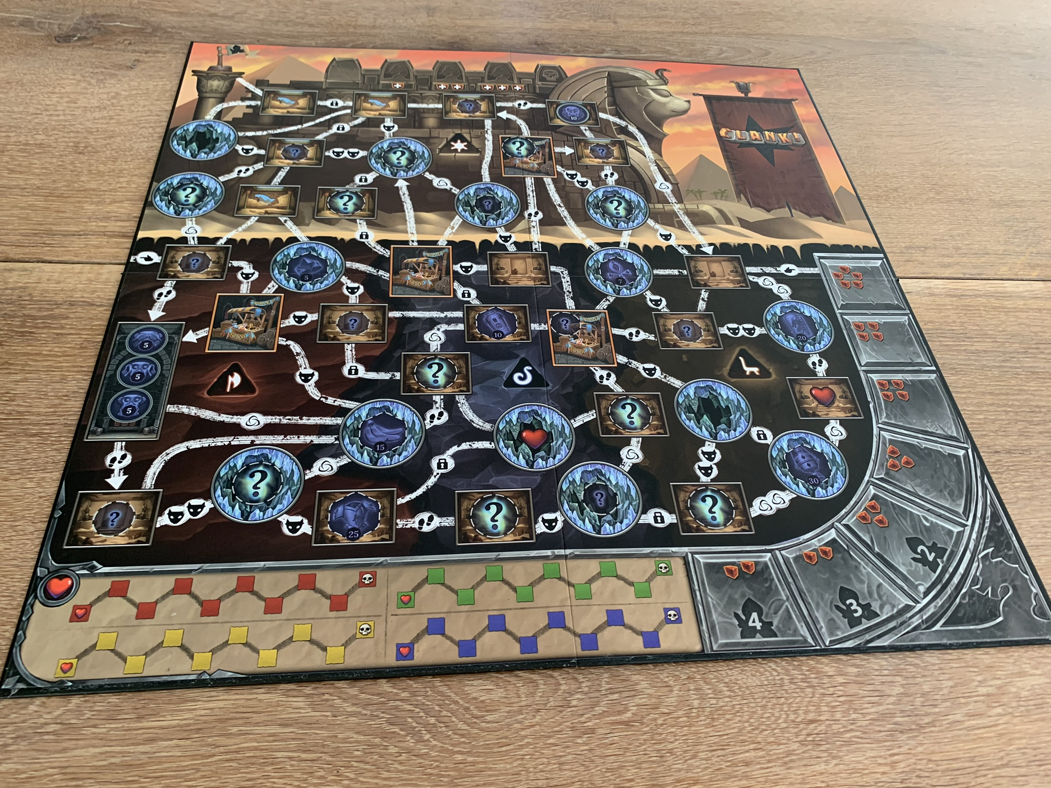 Clank!: The Mummy's Curse - game board 2 side