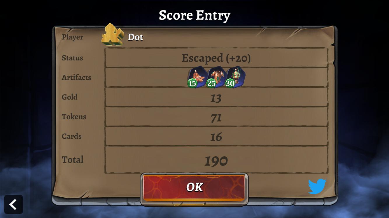 Clank! Companion App - scoring